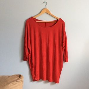 Oversized Soft and Flowy Red Top